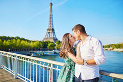 Young romantic couple spending their vacation in Paris Stock Photo