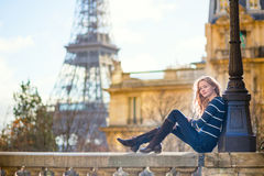 Young romantic girl in Paris Royalty Free Stock Image