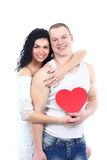 Young romantic valentine's couple Royalty Free Stock Images