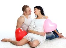 Young romantic valentine's couple Royalty Free Stock Image