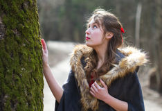 Young romantic woman forest Royalty Free Stock Images