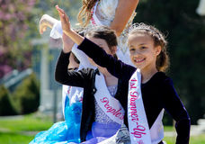 Young royalty in a parade Stock Image