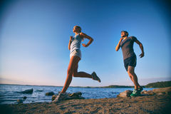 Young runners Stock Photography