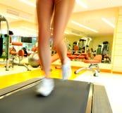 Young running woman stock photos