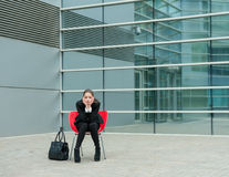 Young sad business woman Stock Images