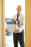 Young sad caucassian businessman lost his job Royalty Free Stock Images