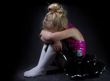 A young sad dancer Royalty Free Stock Photography