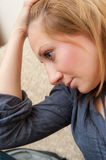 Young Sad and Depressed Girl Royalty Free Stock Images