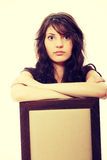 Young sad woman Royalty Free Stock Images