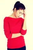 Young sad woman have big problem Royalty Free Stock Photos