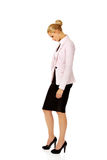 Young sad and worried business woman Stock Photo