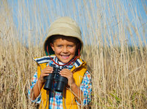Young safari boy. Stock Photo