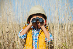 Young safari boy. Royalty Free Stock Photography