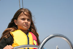 Young sailor stock photography