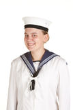 Young sailor isolated white background Stock Images