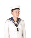Young sailor isolated white background Royalty Free Stock Photography