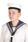Young sailor isolated white background Royalty Free Stock Image