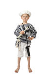 Young sailor with telescope in hand Stock Image