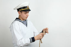Young sailor Stock Images