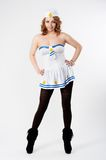 Young sailor woman Stock Photo