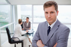 Young sales manager standing Stock Photography