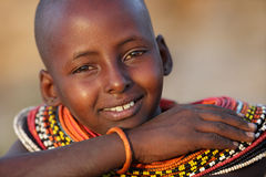 Young Samburu girl in Archers Post, Kenya. Stock Photos