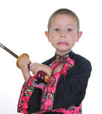 Young samurai Stock Image