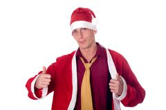 Young santa claus Royalty Free Stock Photography