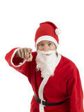 Young Santa Claus pointing his finger Stock Images