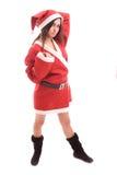 Young Santa Girl Stock Photo