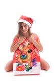 Young Santa Girl Royalty Free Stock Photography