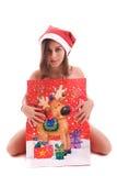 Young Santa Girl Stock Photos
