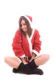 Young Santa Girl Royalty Free Stock Photo