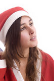 Young Santa Girl Stock Photos
