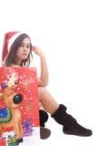 Young Santa Girl Royalty Free Stock Images