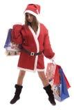 Young Santa Girl posing Royalty Free Stock Photo