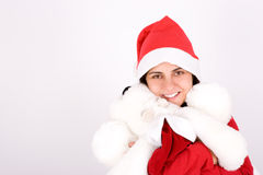 Young santa woman celebrating christmas holidays Royalty Free Stock Images