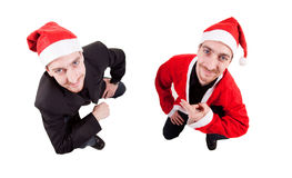 Young santas Stock Image