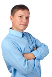 Young satisfied man Royalty Free Stock Photos
