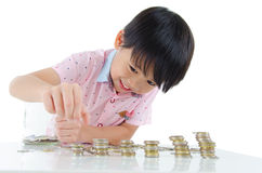 Young saver Royalty Free Stock Images