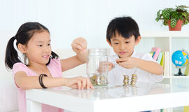 Young savers Royalty Free Stock Image