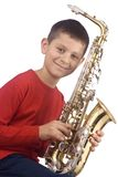 Young sax player Royalty Free Stock Photos