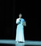 The young scholar wearing a mandarin jacket-The prelude of dance drama-Shawan events of the past. Guangdong Shawan Town is the hometown of ballet music, the past Royalty Free Stock Photography