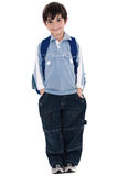 Young school boy standing Royalty Free Stock Photography