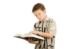 Young school boy studying Stock Photos