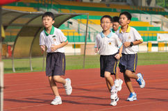 Young School Kids Running Royalty Free Stock Image