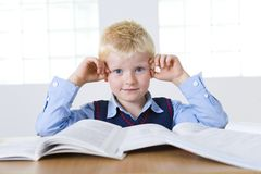 Young schoolboy with books Stock Image