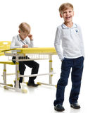 Young schoolboy laughing Royalty Free Stock Photography