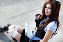 Young schoolgirl Stock Photo