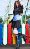 Young schoolgirl Stock Image
